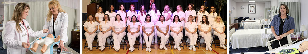 Practical nursing students, graduating class, nursing instructor
