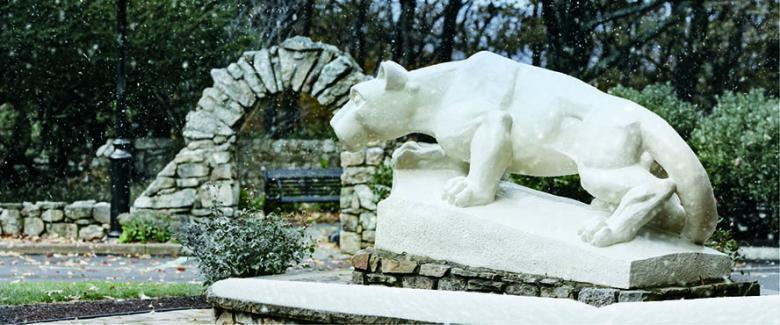 Penn State Hazleton Nittany Lion Statue