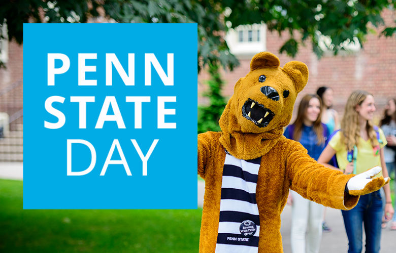 Nittany Lion with outstretched arms