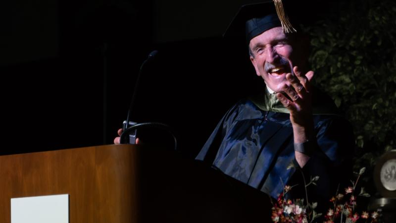 Assistant Professor of Biology Carl Frankel is retiring after 44 years at Penn State Hazleton. He served as the speaker for the Class of 2018's commencement.