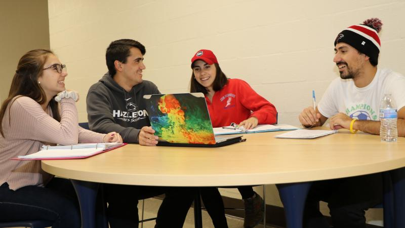 Siblings Camille, Stephen, Meghann and Michael Principe are all students at Penn State Hazleton.