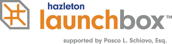 Logo for Hazleton LaunchBox supported by Pasco L. Schiavo Esq.