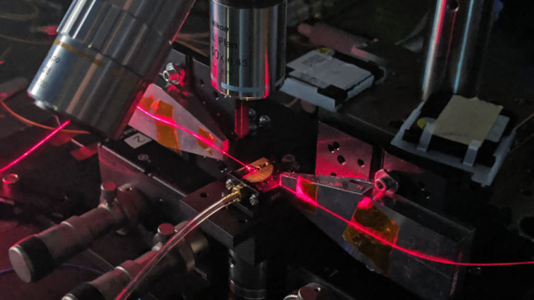 Machinery in a lab working on nanophotonics technology