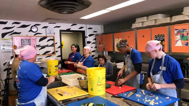 Penn State Hazleton students traveled to Montreal during this year's spring break to serve others facing hunger and food insecurity.